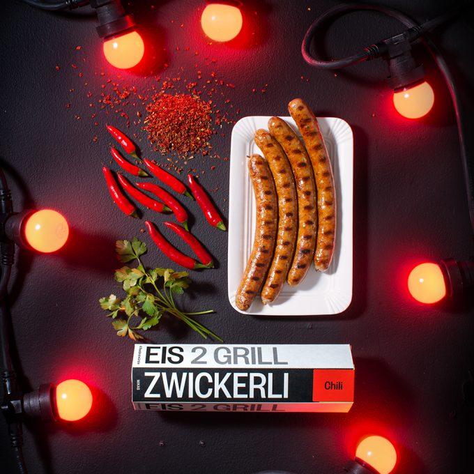 Eiszwickerli Rostbratwurst Chili zum Grillen Zürich